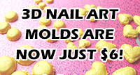 3d nail art molds are now just $6!